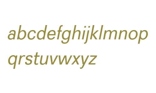 Recta W01 Italic