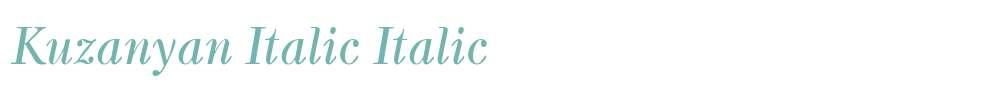 Kuzanyan Italic