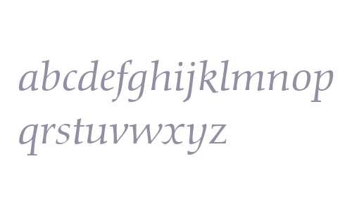 Diotima Classic LT W04 Italic