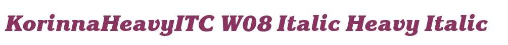 KorinnaHeavyITC W08 Italic