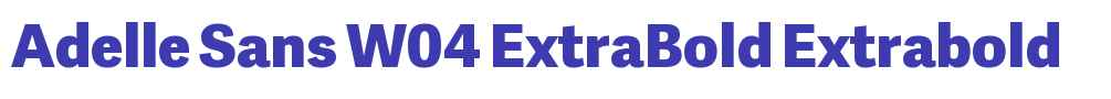 Adelle Sans W04 ExtraBold