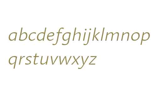 Linotype Aroma Light Italic V1