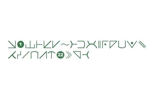 Futurama Alien Alphabet Two