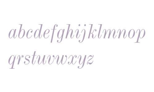 Modern MT W04 Condensed Italic