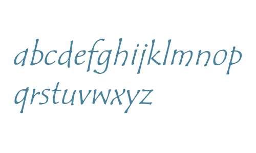Tempus Sans ITC Std Italic