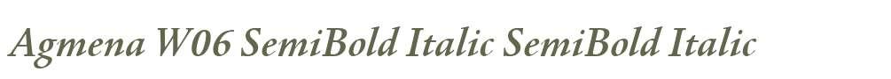 Agmena W06 SemiBold Italic