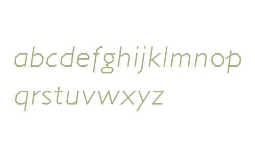 Jillican W00 Light Italic