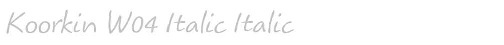 Koorkin W04 Italic