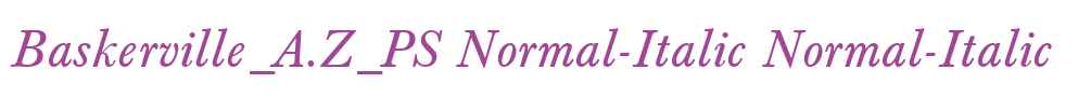 Baskerville_A.Z_PS Normal-Italic