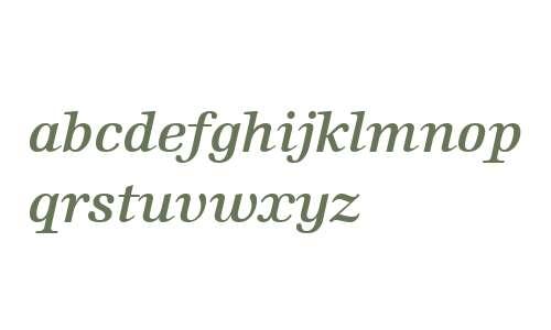 Edison W01 Semi Bold Italic