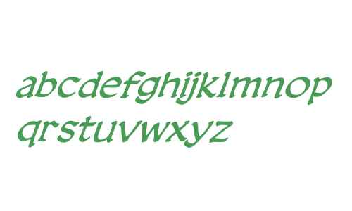 CCDreamlandLower Italic