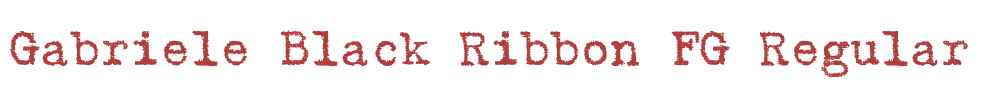 Gabriele Black Ribbon FG