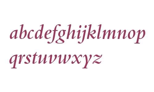 Bembo Semibold Italic