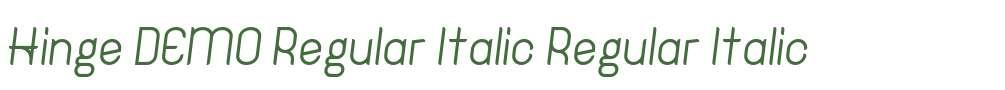 Hinge DEMO Regular Italic