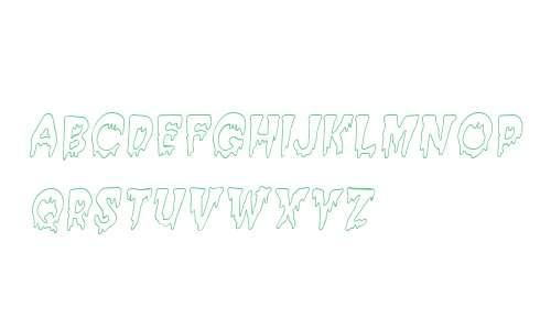 Creepy HollowCondensed  Italic