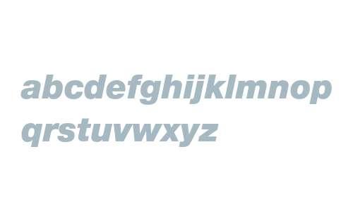 12 pt. Helvetica* 96 Black Italic 16472