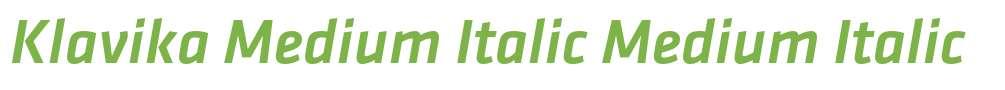 Klavika Medium Italic