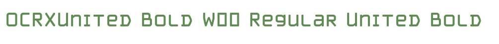OCRXUnited Bold W00 Regular