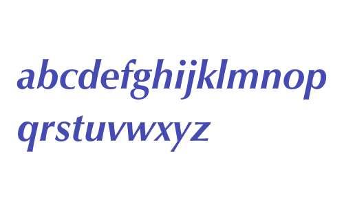 Zapf Humanist 601 Bold Italic