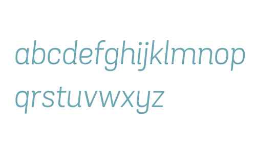 Grota Sans W00 Book Italic