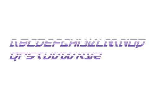 Metal Storm Gradient Italic