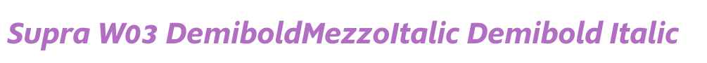 Supra W03 DemiboldMezzoItalic