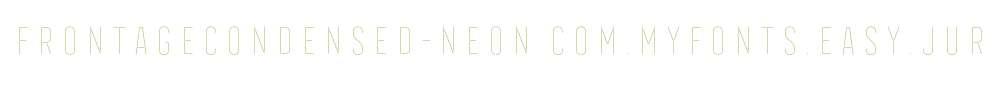 FrontageCondensed-Neon