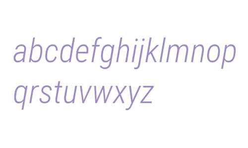 Roboto Condensed Light Italic