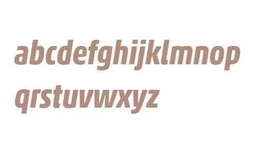 Akko W04 Bold Condensed Italic