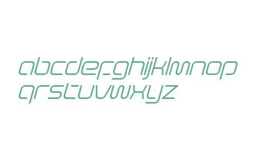 Evolver W10 Light Italic
