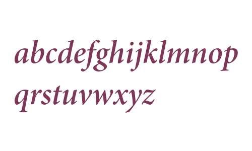 Minion Pro Semibold Italic Subhead