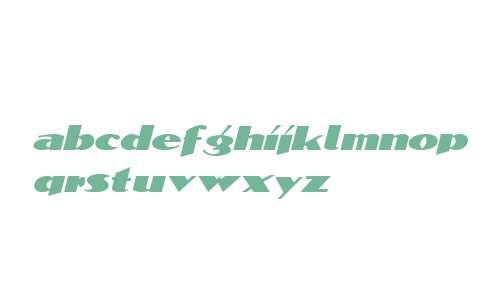 BlockCalligraphyExtended  Italic