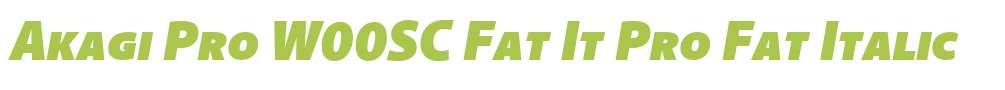 Akagi Pro W00SC Fat It