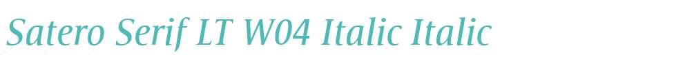 Satero Serif LT W04 Italic