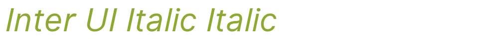 Inter UI Italic