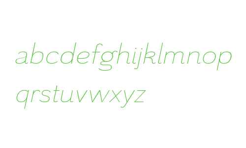 Grenale W01 Ext Thin Italic
