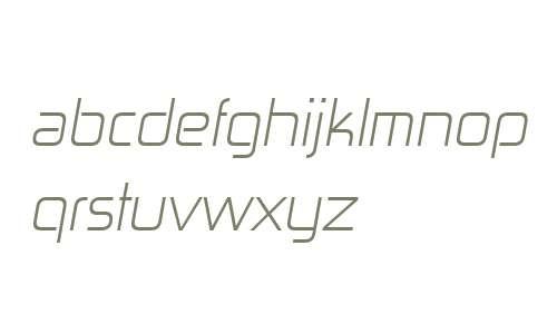 Zekton W00 Light Italic