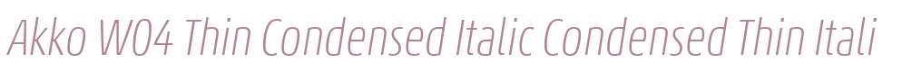 Akko W04 Thin Condensed Italic
