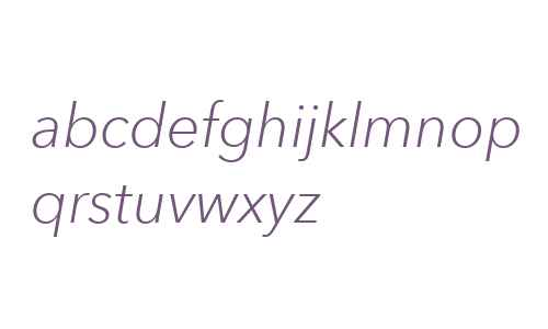 Avenir Next W06 Light Italic