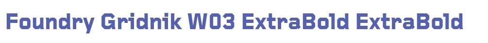 Foundry Gridnik W03 ExtraBold