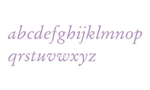 Stempel Garamond W04 Italic