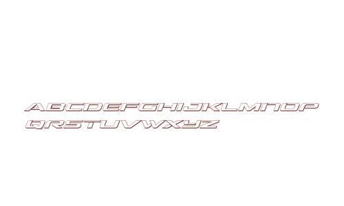 Outrider 3D Italic Italic