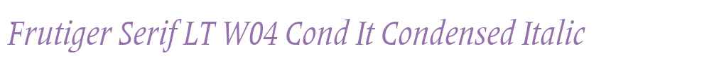 Frutiger Serif LT W04 Cond It