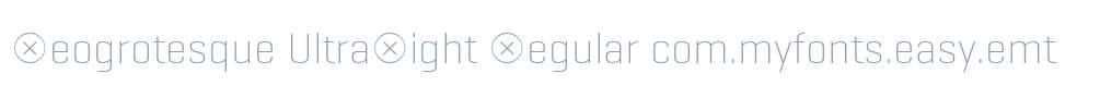 Geogrotesque UltraLight Regular