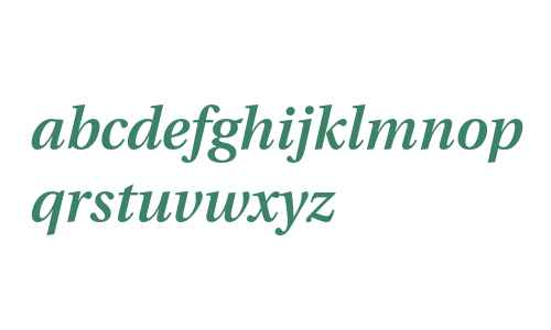Utopia Semibold Italic with Oldstyle Figures