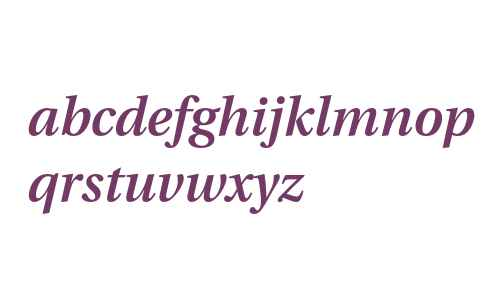 Utopia Semibold Italic with Oldstyle Figures