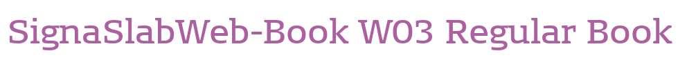 SignaSlabWeb-Book W03 Regular