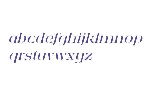 Sensaway PRO W00 Regular Italic