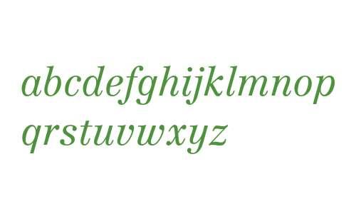 Linotype Centennial 46 Light Italic Oldstyle Figures