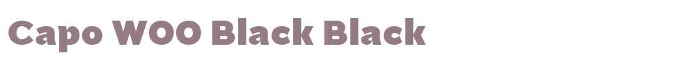 Capo W00 Black